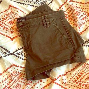EXPRESS Khaki Short Shorts